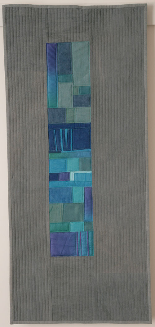 "Patch of Blue, 13-1/2"" x 30"""